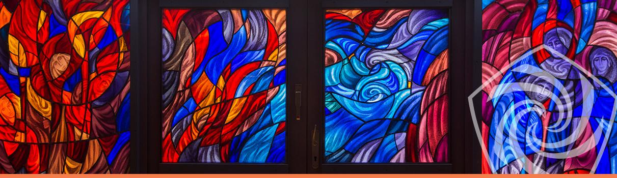 Johanneshaus Öschelbronn Glasfenster